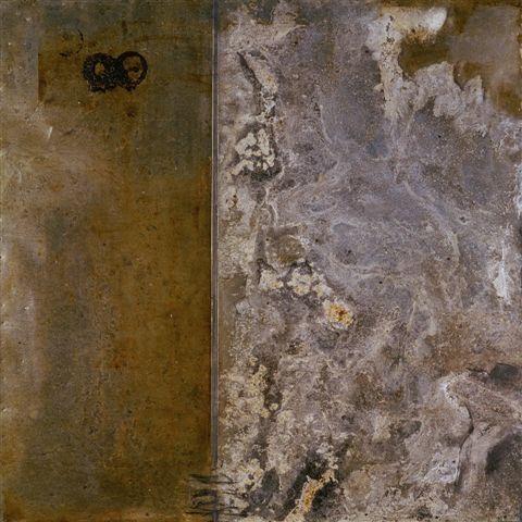 Díptico I 100x100 cm - Técnica mixta sobre zinc 1996