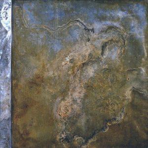 Díptico II 100x100 cm - Técnica mixta sobre zinc 1996