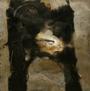 Koan 100x100 cm - Técica mixta sobre zinc 1996
