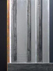 Pic01 el alma disociada 130x97 cm - Técnica mixta sobre zinc 2001