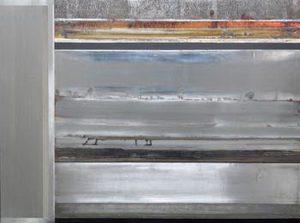 Pic02 estratos 97x130 -cm - Técnica mixta sobre zinc 2002