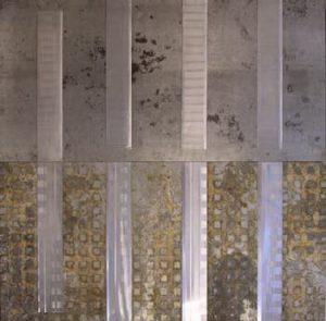 Pic03 valdrada 194x195 cm - Técnica mixta sobre zinc 2006