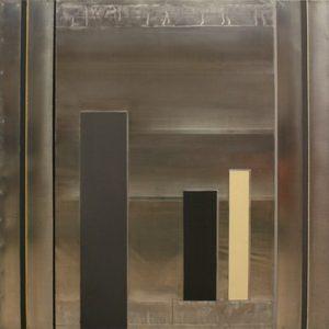Pic04 han 100x100 cm - Técnica mixta sobre zinc 2006