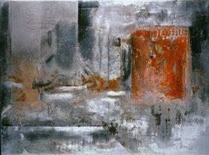 Pic06 llum 97x130 cm - Técnica mixta sobre zinc 1998