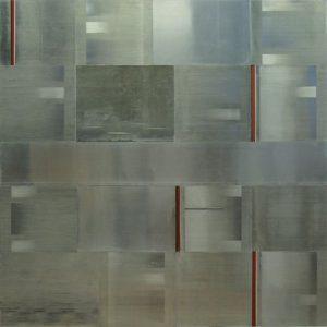 Pic06 viento en el agua 150x150 cm - Técnica mixta sobre zinc 2008