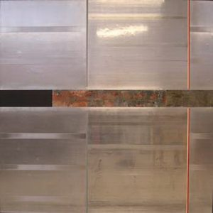 Pic07 frisel 190x190 cm - Técnica mixta sobre zinc 2002