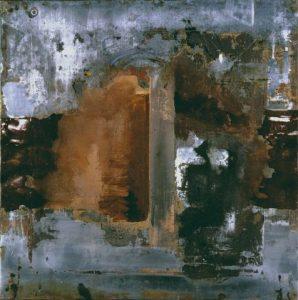 Pic07b Demian 100x100 cm - Técnica mixta sobre zinc 1998