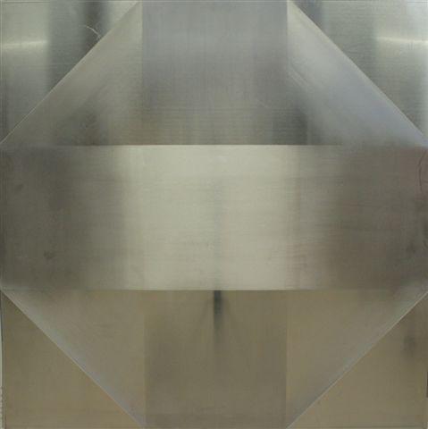 Pic08 vidas cruzadas 92x92 cm - Técnica mixta sobre zinc 2010