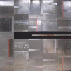 Pic12 Tremor 180x180 cm - Técnica mixta sobre zinc 2003