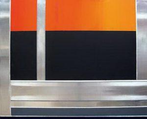 Pic14 avel 81x100 cm - Técnica mixta sobre zinc 2004