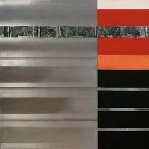Pic17 guardián de luz 100x100 cm - Técnica mixta sobre zinc 2004