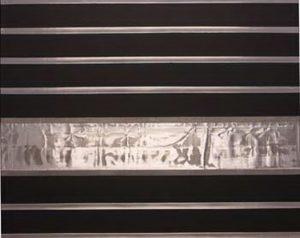Pic19 el eco reflejado 81x100 cm - Técnica mixta sobre zinc 2004